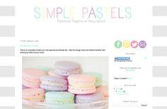 Simple Pastels Pre Made Blogger Blog Template Design Pastel Grey via Etsy