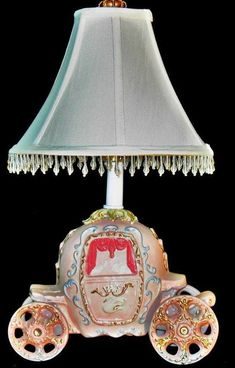Cinderella Carriage Princess Lamp - Princess Decor by whimsicalcollections on Etsy Cinderella Nursery, Cinderella Carriage, Vintage Nursery, Baby Nursery Decor, Girl Nursery, Nursery Ideas, Bedroom Ideas, Bedroom Decor, Disney Themed Bedrooms