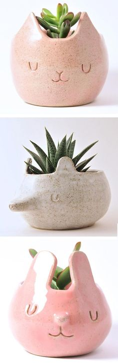 Design Forest Creates Adorable Ceramic Companions for Plants