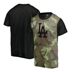 ab98c7318ef Los Angeles Dodgers Fanatics Branded Green 2018 Memorial Day Camo Blast  Sublimated T Shirt Los Angeles