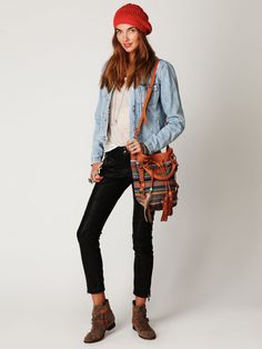Free People Vegan Leather Cropped Skinny Jeans