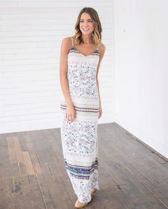 """97 Likes, 3 Comments - Bella Ella Boutique (@bellaellaboutique) on Instagram: """"Good times never seemed so good! Head on over to Bella Ella to pick up this gorgeous maxi dress. \\…"""""""