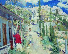 Russian artist painter Sergei Vinogradov