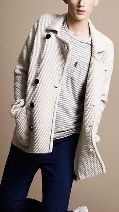 Love this waffle-knit Burberry jacket