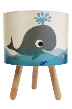 Whale Print Lamp