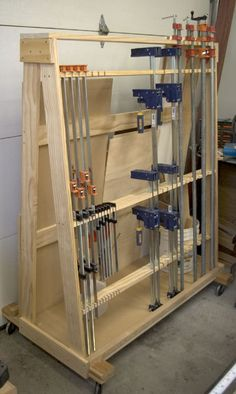 The RunnerDuck wood-clamp rack plan, is step by step instructions on how to build a wood and clamp rack for your shop.