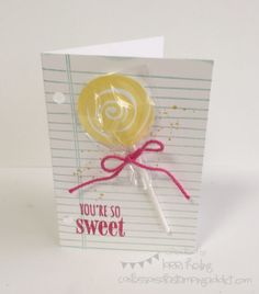 Lollipop Card :: Confessions of a Stamping Addict Lorri Heiling Swirly Bird