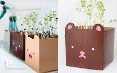 Cute tetrabrick planters