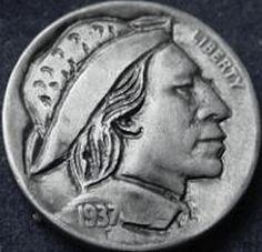 ORAZIO ANGELO HOBO NICKEL - 1937 BUFFALO PROFILE Hobo Nickel, Buffalo, Profile, User Profile, Water Buffalo