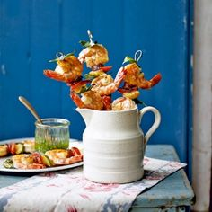 Prawn & Chorizo Skewers - Healthy & Easy Recipes