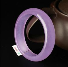 This is natural untreated grade a Chinese jade bangle (quartzite)… Jade Bracelet, Bangle Bracelets, Bracelet Watch, Bangles, Chinese Arts And Crafts, Ankle Chain, Jade Jewelry, Lavender Color, Shades Of Purple