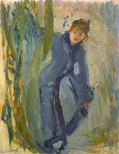 Berthe Morisot 1841 - 1895 Jeune Fille Remettant Son Patin 1893