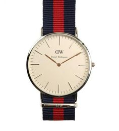 Daniel Wellington - Oxford Watch, Quartz, Red Natostrap : GOTSTYLE Onl...