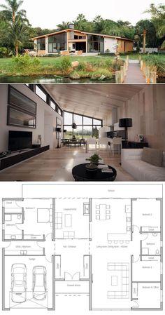 Architecture, Plans de Maison #maisons #casasmodernas
