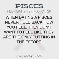 Facts about dating a pisces