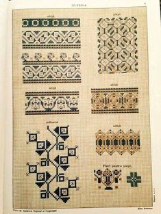 Costumul Romanesc - Румынский нар.. Folk Embroidery, Embroidery Patterns, Cross Stitch Patterns, Romania People, Palestinian Embroidery, Costume Patterns, Folk Art, Needlework, Sewing