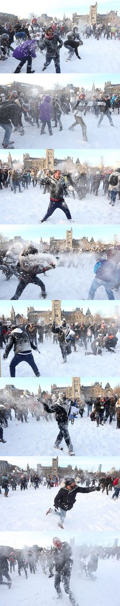 How epic was the University of Toronto's snowball fight?