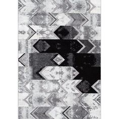 nuLOOM Hilma Abstract Chevron Area Rug or Runner, Gray