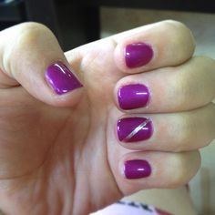 Purple gel nail polish ...