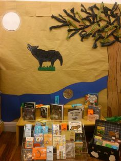 Días entre lobos ¡AUUUUU!: Que miedo Mostra Bibliográfica da Biblioteca Infantil e Xuvenil adicada ao lobo. Classroom Door, Reading Nooks, Moose Art, Decorations, Animals, Children's Library, Wolves, Exhibitions, Blue Prints