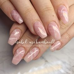Perfect Pink Quartz nails