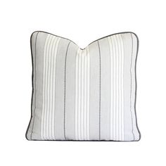 Schumacher Audrey Stripe in Grey / Decorative Pillow Cover /