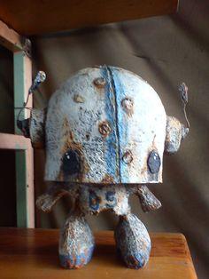 art toy paper rusty robot