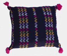 Handloomed Burmese Shan design cushion cover