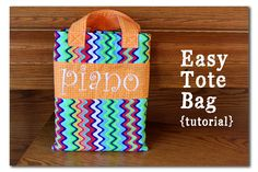 Easy Tote Bag - Tutorial! ~ Sugar Bee Crafts