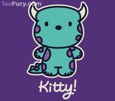 Monsters Inc. and Hello Kitty mashup shirt.  I NEED IT.