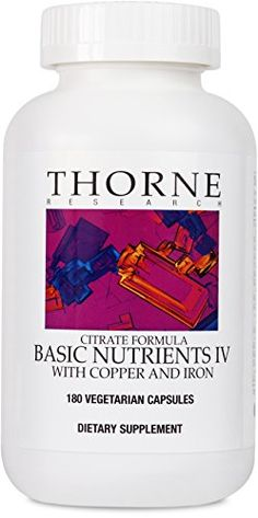 Thorne Research - Children's Basic Nutrients - Easy-Dosing Multi-Vitamin-Mineral Supplement for Children - 4 and Older - 180 Capsules Multivitamin Supplements, Nutritional Supplements, Whole Food Vitamins, Pantothenic Acid, Healthy Tips, Healthy Food, Health And Beauty, Whole Food Recipes, Healthy Living