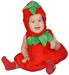 Cute Baby Strawberry Costume by Dress Up America  Size 1224 Mo