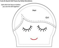 Cute & Quick Hand Stitched Doll Faces    http://dollydonations.blogspot.com/2010/05/cute-quick-hand-stitched-doll-faces.html
