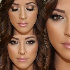 Beautiful clean eye makeup, neutral pink soft lip jadeywadey180 natural look