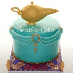 Princess Jasmine inspired cake, Aladdin cake Aladdin Cake, Aladdin Party, Princess Jasmine Cake, Disney Princess Party, Birthday Desserts, 6th Birthday Parties, Jasmine Birthday Cake, Arabian Party, Different Kinds Of Cakes