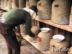 Beekeeping in Skeps; moving hives to Heather Blossom; old tools, using food to hold bees over (in Germany)