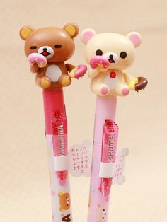 Kawaii stationery that Yui would love Kawaii Pens, Kawaii Cute, Rilakkuma, Cute Pens, Cute Stationary, Cute School Supplies, Kawaii Stationery, Kawaii Shop, Cute Japanese