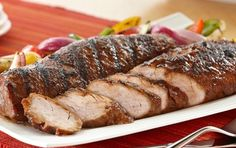 Try this tasty pork tenderloin recipe on the grill for some serious flavor! #recipe