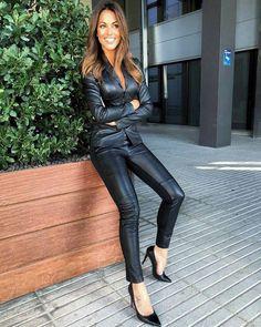 Los looks de Lara Álvarez - Outfit in leather aba18e5672323