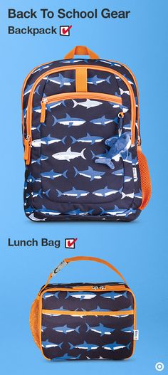 Up the awesome factor with a Crackt shark-print backpack/lunch box combo set. The backpack is stuffed to the gills with all the compartments you need, including an internal organizer for their school supplies, books, and whatever they're hauling to school and beyond. Oh, and there's that removable plush shark dangle for an added bit of fun. The lunch box features an insulated interior to keep food fresh, with an antimicrobial treatment that prevents mold and mildew build-up on the lining.