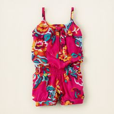 girl - floral bow romper | Children's Clothing | Kids Clothes | The Children's Place