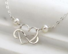 Infinity Heart Necklace • Heart & Infinity Friendship Necklace • Eternity Jewelry • BFF Necklace • Gift For Friend • Gift For Mom • Heart