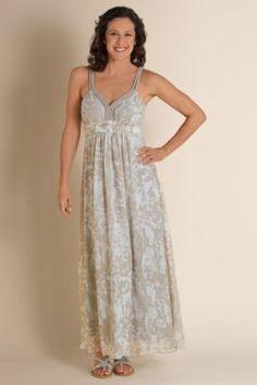 Summer Breeze Dress - Empire Waist Dress, Abstract Print Dress   Soft Surroundings
