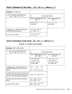 Worksheets Factoring Trinomials Of The Form Ax2 Bx C Worksheet Answers factoring trinomials of the form ax2 bx c worksheet answers 1000 images about mat0028 on pinterest divisibility rules