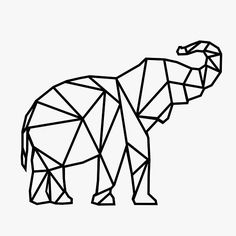 Items similar to Geometric Elephant Decal on Etsy Geometrische Elefant-Aufkleber The post Ähnliche Artikel wie Geometric Elephant Decal on Etsy appeared first on Claud My Page. Geometric Elephant Tattoo, Elephant Art, Elephant Tattoos, Elephant Outline, Elephant Pattern, Geometric Drawing, Geometric Art, Geometric Animal, Animal Outline