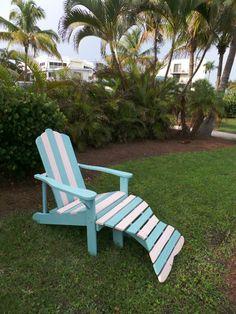 The perfect beach inspired Adirondack chair.