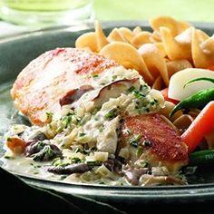 Chicken Breasts with Mushroom Cream Sauce - EatingWell.com