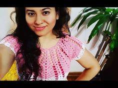 Blusa Presencia en Crochet(ganchillo) con Motivos a la Talla Deseada - YouTube
