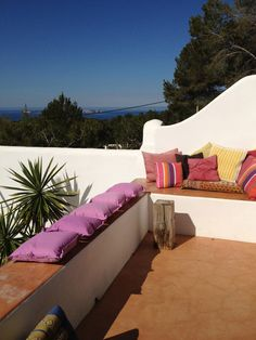 one of the terraces. Ibiza.