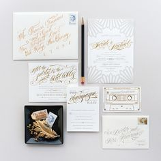 The best 2014 #wedding invitations featured on Oh So Beautiful Paper: http://ohsobeautifulpaper.com/2014/12/best-2014-wedding-invitations-part-2/ | Design: Coral Pheasant